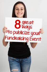 UltimateDonations.org: 8 great ways to publicize your fundraising event copy