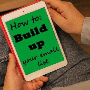 build your email list copy