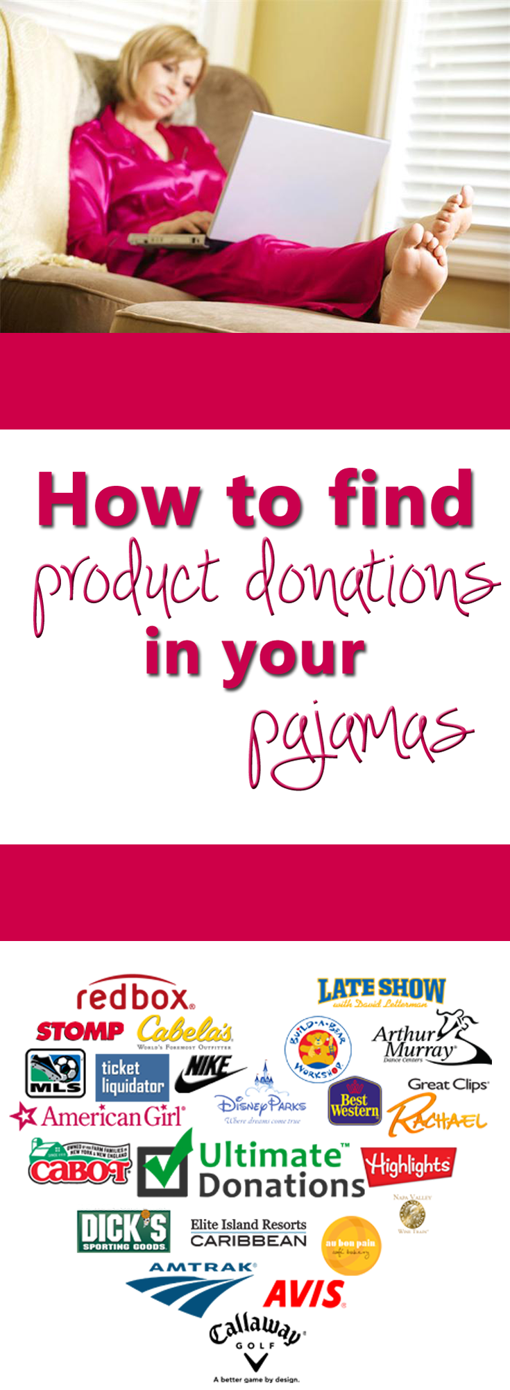 UltimateDonations.org: How to find product donations in your pajamas copy