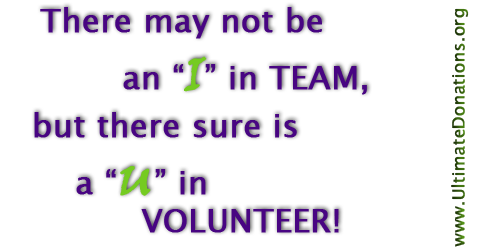"There is no ""I"" in TEAM…"