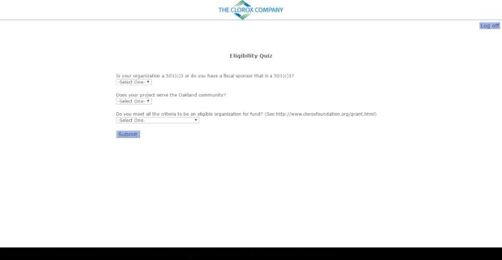 Clorox donation info and form. https://www.thecloroxcompany.com