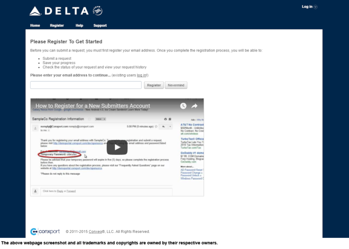 Delta Air Lines donation info and form. http://www.delta.com