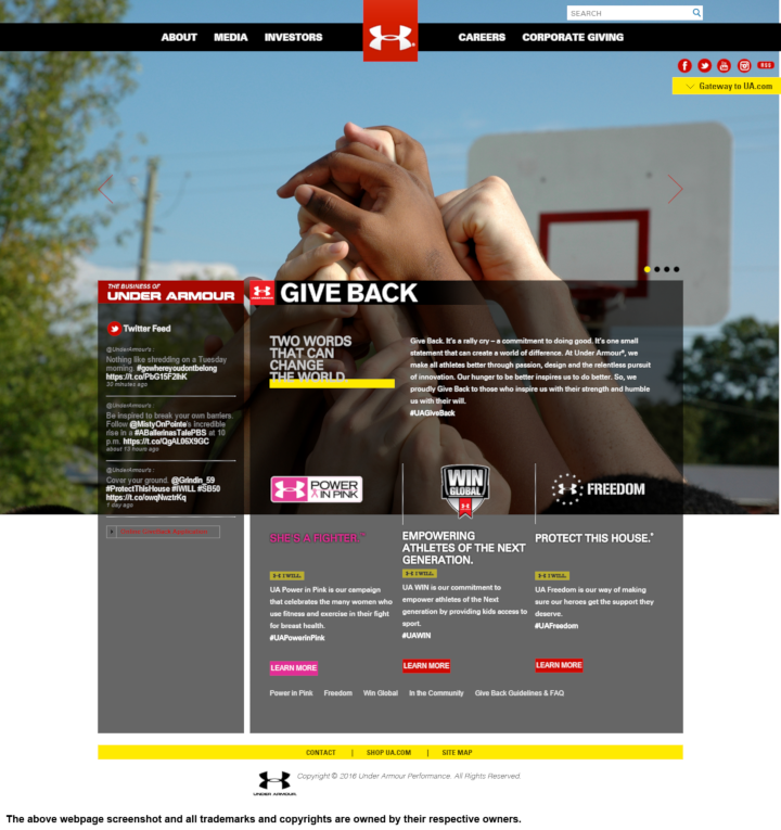 online store e2ba2 9255c Under Armour donation info and form. https   www.underarmour.com