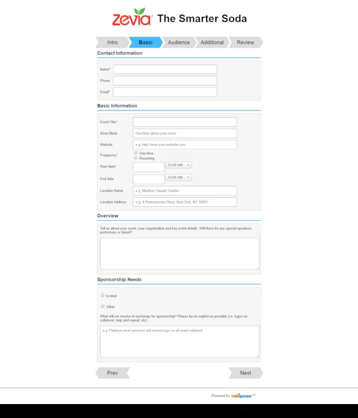 Zevia donation info and form. http://www.zevia.com